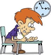 Sınav stresi yaşayan öğrenci