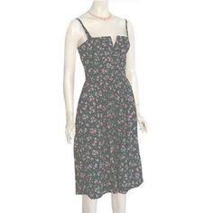 Perfect Lanz Originals Vintage 1970s Sundress Floral Print Dress S/XS #dresses #forsale