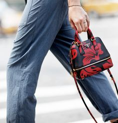 Prada Bag, denim pants / Garance Doré