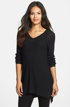 Eileen Fisher Washable Wool V-Neck Tunic