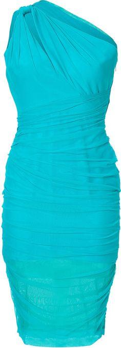 Versace Ruched One Shoulder Dress on shopstyle.com