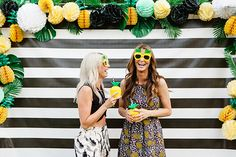 A pineapple-themed birthday party | this would take my pineapple obsession to the extreme