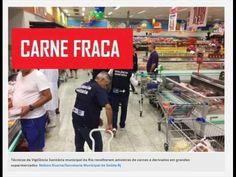 Vigilância Sanitária do Rio recolhe amostras de carne em supermercados.