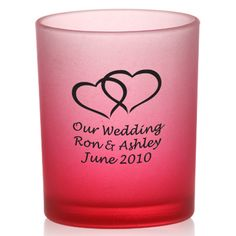 Imported colored frosted votive candle holder, customizable wedding favor