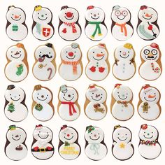 Iced Snowman Biscuit