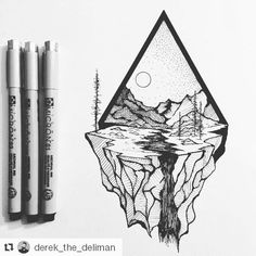 Awesome illustration by @derek_the_deliman #art #dailydrawings #illustration #geometry #micron #drawing #bnw