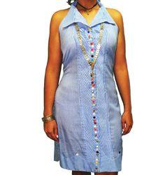 Alquiler de Vestido Estilizado Tonosieño Azul en Panamá. Para cualquier ocasión, evento folklórico o actividad social.