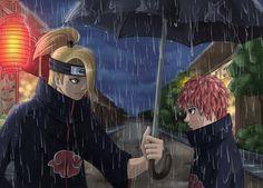 SasoDei: Rain by on DeviantArt Akatsuki, Naruto Shippuden, Boruto, Sasori And Deidara, Xxxholic, Anime Naruto, Memes, Otp, Rain