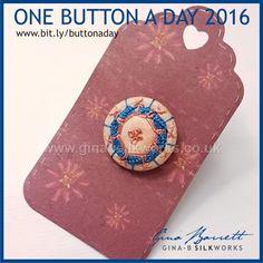 Day 308: Dainty #onebuttonaday by Gina Barrett