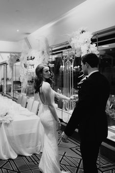 Art Deco vibes!  Our divine Georgia Collection captured in the most elegant city scene at the Blackbird venue for a modern element. Brisbane River, Bridal Gowns, Wedding Dresses, City Scene, Bar Grill, Grilling, Georgia, Art Deco