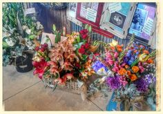 Beautiful vintage floral arrangements