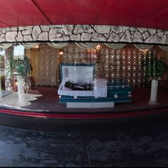 Drive-thru Funeral Home. Located in Compton, Ca