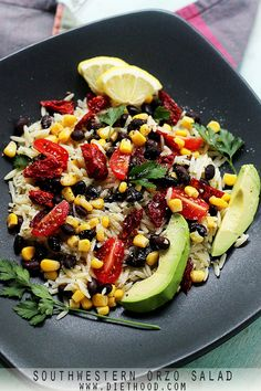 Southwestern Orzo Salad from Diethood