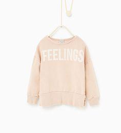 Image 1 of Feelings sweatshirt from Zara