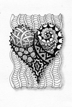 zentangle heart by Suzanne McNeill