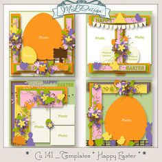 """CU set 141 Templates """" Happy easter """" by MLDesign"""