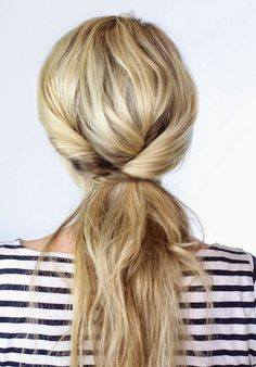 A quick, chic style! #hair #hairstyle