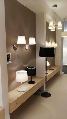 BERNI #design #floor #lamp Lighting Showroom, Product Display, Showroom Design, Light Building, Display Shelves, Double Vanity, Floor Lamp, Shops, Flooring