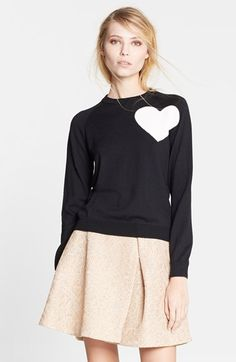 MSGM Heart Intarsia Knit Sweater available at #Nordstrom