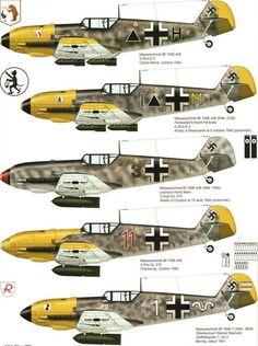 Messerschmitt Bf 109E-4 Profiles