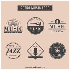 Retro Musik-Logo-Set Kostenlose Vektoren Best Picture For Music humor For Your Taste You are looking for something, and it is going to tell you exactly what you are looking for, and you didn't find th Logo Musik, Sound Logo, Retro, Indie, Music Backgrounds, App Logo, Education Logo, Music Logo, Set Me Free