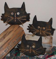 EPATTERN Primitive Halloween Black Cat by OldeAnniePrimitives