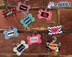 Personalized Dog Tag  Custom Made with your door SnappysBoutique