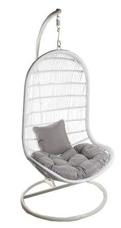 www.etola.net   Muovirottinkinen riippukeinu valkoinen Hanging Chair, Interior Decorating, Style Inspiration, Wealth, Furniture, Decoration, Home Decor, Ideas, Decor