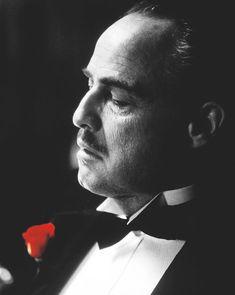 """Marlon Brando as Vito Corleone in """"The Godfather"""" Marlon Brando, Brando Godfather, The Godfather Poster, Godfather Movie, Corleone Family, Don Corleone, Fredo Corleone, The Godfather Wallpaper, Francis Ford Coppola"""