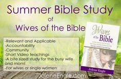 Looking for a mentor for your Christian walk and/or marriage? Well, look no further! Coming to a computer screen near you is a bite size Bible study of the Wives of the Bible! When I was newly saved and single I had no older Christian women showing me how to be a Godly woman. But … … Continue reading →
