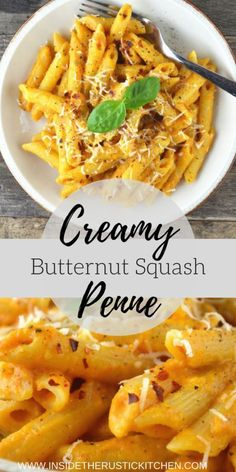 Frugal Food Items - How To Prepare Dinner And Luxuriate In Delightful Meals Without Having Shelling Out A Fortune This Creamy Butternut Squash Pasta Recipe Is Incredibly Comforting And So Simple. The Whole Family Will Be Asking For Veggie Recipes, Vegetarian Recipes, Cooking Recipes, Healthy Recipes, Quick Recipes, Pumpkin Recipes, Recipes Dinner, Vegan Squash Recipes, Simple Pasta Recipes