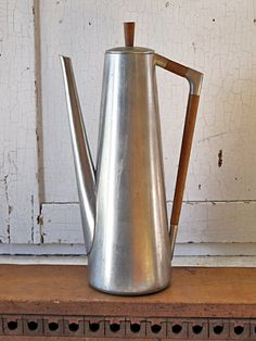 Mid-Century Danish Pewter Coffee pot, Royal Holland KMD (ShannonReed.com)