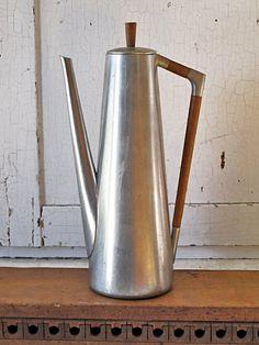 Mid-Century Danish Pewter Coffee pot, Royal Holland KMD (ShannonReed.com)