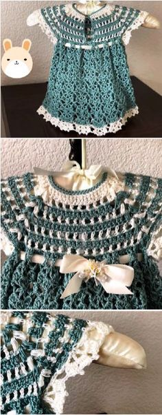 Crochet Lovely Baby Girl Dress Hi crochet lovers around the world! Today we have discovered very beautiful fast and easy baby dress video tutorial just. Crochet Baby Blanket Beginner, Baby Girl Crochet, Crochet Baby Clothes, Baby Knitting, Crochet Dresses, All Free Crochet, Easy Crochet Patterns, Crochet For Kids, Knit Crochet
