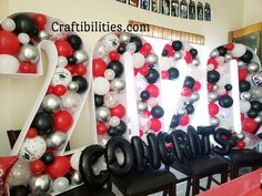 GIANT mosaic numbers / letters filled with balloons - Party decoration idea - DIY How to make tutorial - 18th birthday Large Balloons, Number Balloons, Letter Balloons, Gold Balloons, Confetti Balloons, Birthday Balloon Decorations, Birthday Balloons, Birthday Party Decorations, Diy Birthday Number