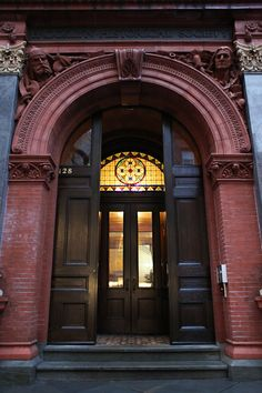 Brooklyn Historical Society Entrance,  Pierrepont Street