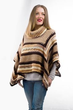 Check out this item in my Etsy shop https://www.etsy.com/listing/492657496/handmade-poncho-beige-brown-palette