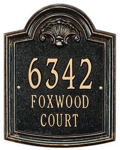 Whitehall Elderwood Address Plaque