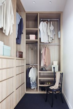 Robson Rak Architects and Made by Cohen – Elwood Gorgeous cabinetry in walk in wardrobe Australian Interior Design, Interior Design Awards, Australian Homes, Bedroom Wardrobe, Wardrobe Closet, Home Bedroom, Wardrobe Rail, Wardrobe Storage, Closet Space