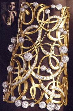 Best Diamond Bracelets : The Shining Light Awards honored designs that celebrated diamonds from South Afr High Jewelry, Jewelry Art, Gold Jewelry, Jewelry Accessories, Fashion Jewelry, Jewellery, Diamond Bracelets, Gold Bangles, Diamond Jewelry