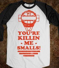 You're Killin Me Smalls (Vintage Baseball) - Sports Fun - Skreened T-shirts, Organic Shirts, Hoodies, Kids Tees, Baby One-Pieces and Tote Bags Custom T-Shirts, Organic Shirts, Hoodies, Novelty Gifts, Kids Apparel, Baby One-Pieces | Skreened - Ethical Custom Apparel