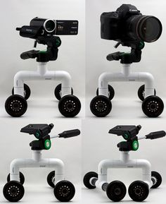 DIY PVC Roller Dolly For Cameras, Camcorders
