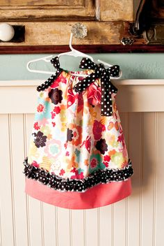 Pillow Case Dress-Love the fabric