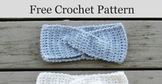 Free Crochet Ear Warmer or Headband with a Twist. Make this elegant headband with extended single crochet stitches in just under an hour.