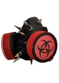 Cyber Biohazard Respirator - gothic cyber goggles, respirators and gas masks.