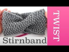 änger ür Twist Stirnband stricken im Perlmuster Headband Pattern, Diy Headband, Knitted Headband, Chunky Knitting Patterns, Baby Knitting, Crochet Patterns, Bandeau Torsadé, Rick E, How To Start Knitting