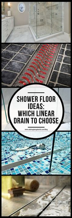 After designing and building your shower floor, you can consider a linear shower drain as the final touch to an architectural masterpiece. You don't have to settle on a specific design or color restraint, either; linear shower drain options are some of th Shower Drain, Shower Floor, Wet Bar Basement, Basement Finishing, Linear Drain, Floor Drains, Best Bath, Decoration, Bathroom Ideas