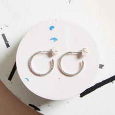 KIND Collection - Silver Hidden Orbit Hoop Earrings, Small.