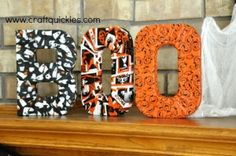 Halloween wrapped letters