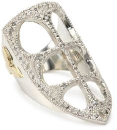 Mizuki Silver and Gold Diamond French Gothic Ring,Size 7: Jewelry: Amazon.com